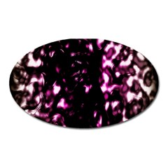 Background Structure Magenta Brown Oval Magnet by Simbadda