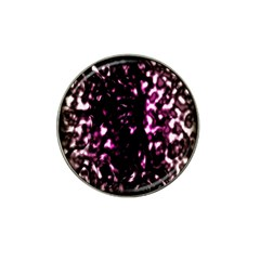 Background Structure Magenta Brown Hat Clip Ball Marker (4 Pack) by Simbadda