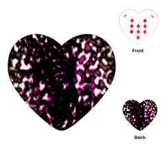 Background Structure Magenta Brown Playing Cards (heart)  by Simbadda