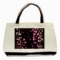 Background Structure Magenta Brown Basic Tote Bag by Simbadda