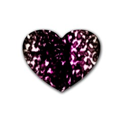 Background Structure Magenta Brown Rubber Coaster (heart)  by Simbadda