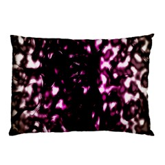 Background Structure Magenta Brown Pillow Case by Simbadda