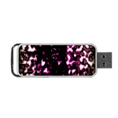 Background Structure Magenta Brown Portable Usb Flash (two Sides) by Simbadda