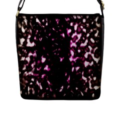 Background Structure Magenta Brown Flap Messenger Bag (l)  by Simbadda