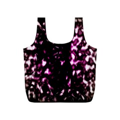 Background Structure Magenta Brown Full Print Recycle Bags (s)  by Simbadda