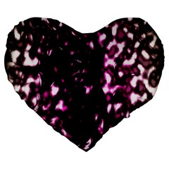 Background Structure Magenta Brown Large 19  Premium Flano Heart Shape Cushions by Simbadda