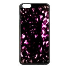 Background Structure Magenta Brown Apple Iphone 6 Plus/6s Plus Black Enamel Case by Simbadda