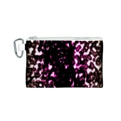 Background Structure Magenta Brown Canvas Cosmetic Bag (s) by Simbadda