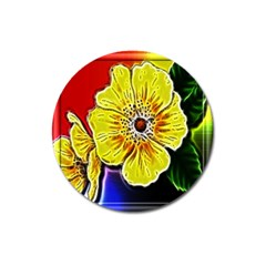 Beautiful Fractal Flower In 3d Glass Frame Magnet 3  (round) by Simbadda