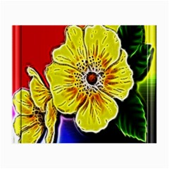 Beautiful Fractal Flower In 3d Glass Frame Small Glasses Cloth by Simbadda