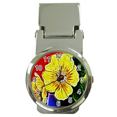 Beautiful Fractal Flower In 3d Glass Frame Money Clip Watches by Simbadda