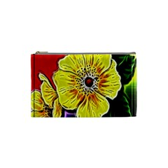 Beautiful Fractal Flower In 3d Glass Frame Cosmetic Bag (small)  by Simbadda