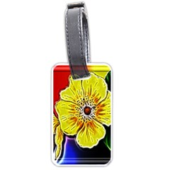 Beautiful Fractal Flower In 3d Glass Frame Luggage Tags (one Side)  by Simbadda