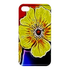 Beautiful Fractal Flower In 3d Glass Frame Apple Iphone 4/4s Hardshell Case by Simbadda