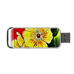 Beautiful Fractal Flower In 3d Glass Frame Portable Usb Flash (one Side) by Simbadda