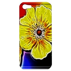 Beautiful Fractal Flower In 3d Glass Frame Apple Iphone 5 Hardshell Case by Simbadda