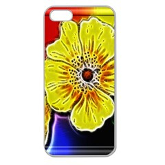Beautiful Fractal Flower In 3d Glass Frame Apple Seamless Iphone 5 Case (clear) by Simbadda
