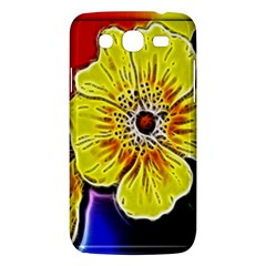 Beautiful Fractal Flower In 3d Glass Frame Samsung Galaxy Mega 5 8 I9152 Hardshell Case  by Simbadda