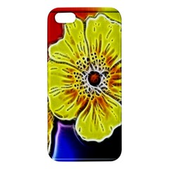 Beautiful Fractal Flower In 3d Glass Frame Iphone 5s/ Se Premium Hardshell Case by Simbadda