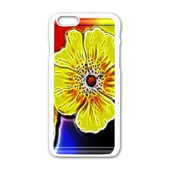 Beautiful Fractal Flower In 3d Glass Frame Apple Iphone 6/6s White Enamel Case by Simbadda