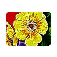 Beautiful Fractal Flower In 3d Glass Frame Double Sided Flano Blanket (mini)  by Simbadda