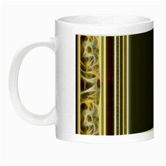 Fractal Classic Baroque Frame Night Luminous Mugs by Simbadda
