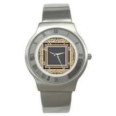Fractal Classic Baroque Frame Stainless Steel Watch by Simbadda
