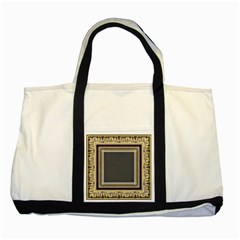 Fractal Classic Baroque Frame Two Tone Tote Bag by Simbadda