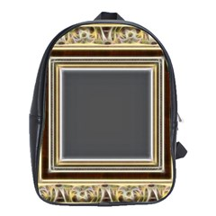 Fractal Classic Baroque Frame School Bags(large)  by Simbadda