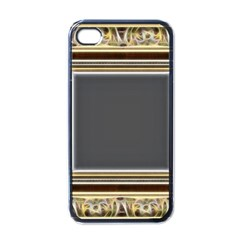 Fractal Classic Baroque Frame Apple Iphone 4 Case (black) by Simbadda