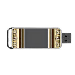 Fractal Classic Baroque Frame Portable Usb Flash (two Sides) by Simbadda