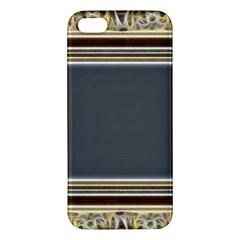 Fractal Classic Baroque Frame Apple Iphone 5 Premium Hardshell Case by Simbadda