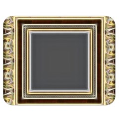 Fractal Classic Baroque Frame Double Sided Flano Blanket (medium)  by Simbadda