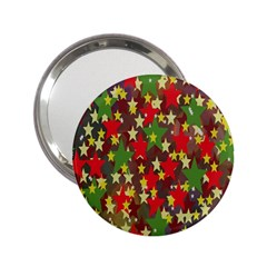 Star Abstract Multicoloured Stars Background Pattern 2 25  Handbag Mirrors by Simbadda