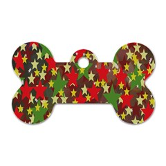 Star Abstract Multicoloured Stars Background Pattern Dog Tag Bone (two Sides) by Simbadda