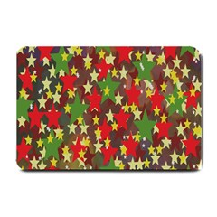 Star Abstract Multicoloured Stars Background Pattern Small Doormat  by Simbadda
