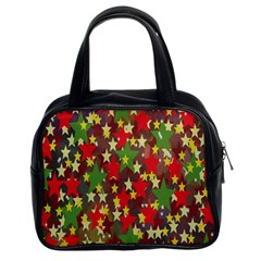 Star Abstract Multicoloured Stars Background Pattern Classic Handbags (2 Sides)