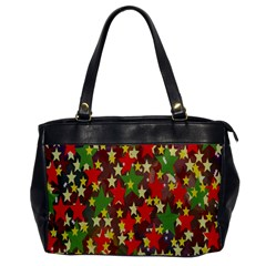 Star Abstract Multicoloured Stars Background Pattern Office Handbags by Simbadda