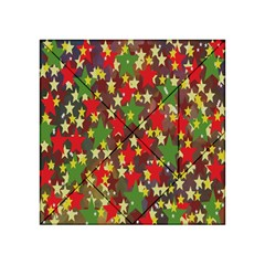 Star Abstract Multicoloured Stars Background Pattern Acrylic Tangram Puzzle (4  X 4 ) by Simbadda