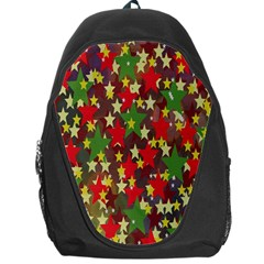 Star Abstract Multicoloured Stars Background Pattern Backpack Bag by Simbadda