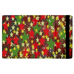 Star Abstract Multicoloured Stars Background Pattern Apple Ipad 2 Flip Case by Simbadda