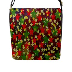 Star Abstract Multicoloured Stars Background Pattern Flap Messenger Bag (l)  by Simbadda