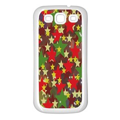 Star Abstract Multicoloured Stars Background Pattern Samsung Galaxy S3 Back Case (white) by Simbadda