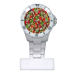 Star Abstract Multicoloured Stars Background Pattern Plastic Nurses Watch by Simbadda