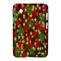 Star Abstract Multicoloured Stars Background Pattern Samsung Galaxy Tab 2 (7 ) P3100 Hardshell Case  by Simbadda