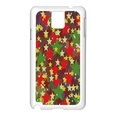 Star Abstract Multicoloured Stars Background Pattern Samsung Galaxy Note 3 N9005 Case (white) by Simbadda