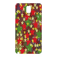 Star Abstract Multicoloured Stars Background Pattern Samsung Galaxy Note 3 N9005 Hardshell Back Case by Simbadda