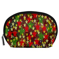 Star Abstract Multicoloured Stars Background Pattern Accessory Pouches (large)  by Simbadda
