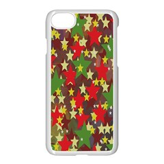Star Abstract Multicoloured Stars Background Pattern Apple Iphone 7 Seamless Case (white) by Simbadda