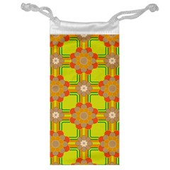 Floral Pattern Wallpaper Background Beautiful Colorful Jewelry Bag by Simbadda